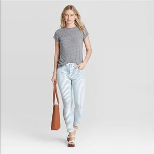 UNIVERSAL THREAD Highrise stripe skinny ankle jean